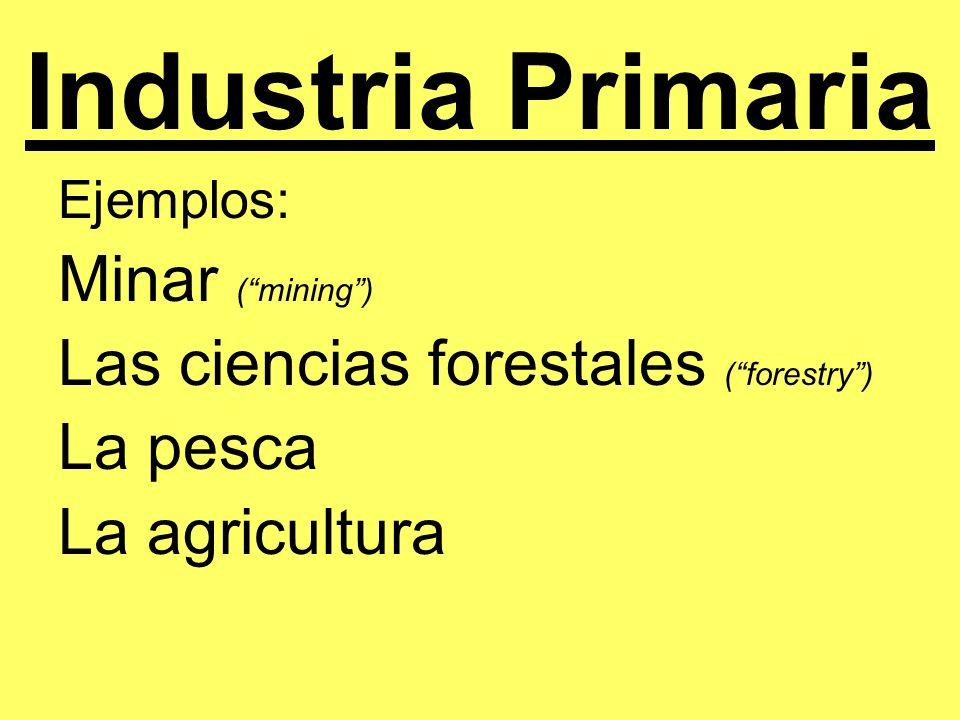 Industria Primaria Minar ( mining )