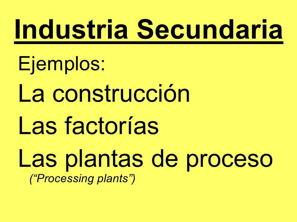 Industria Secundaria La construcción Las factorías