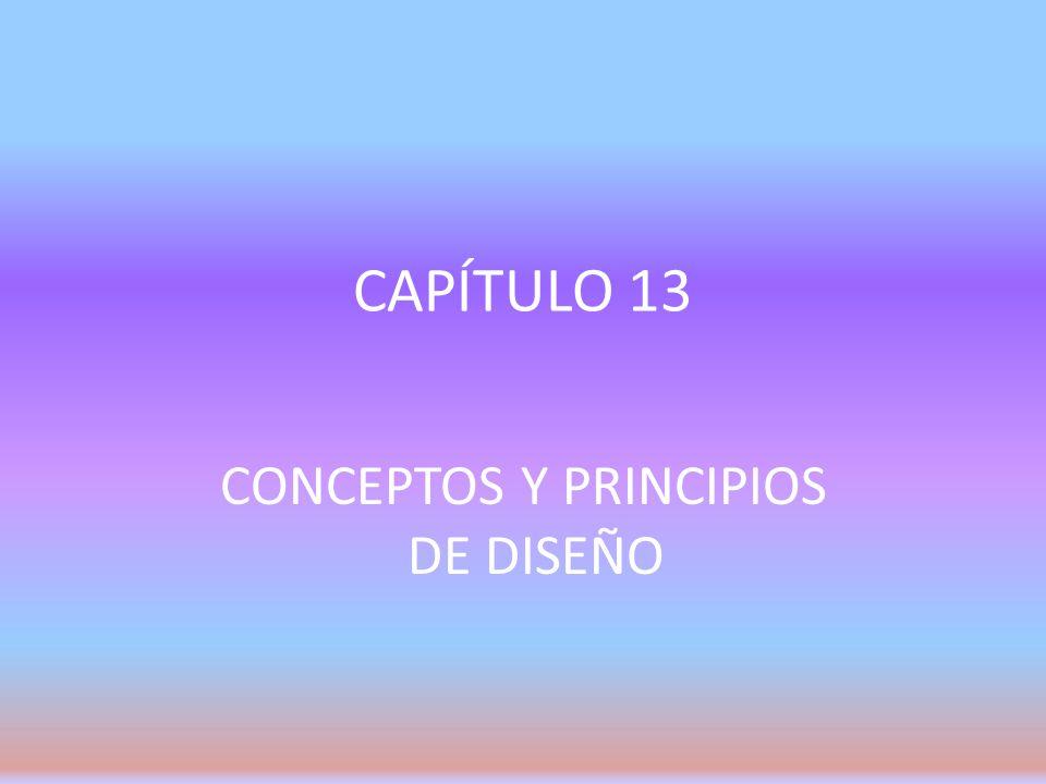 CONCEPTOS Y PRINCIPIOS DE DISEÑO