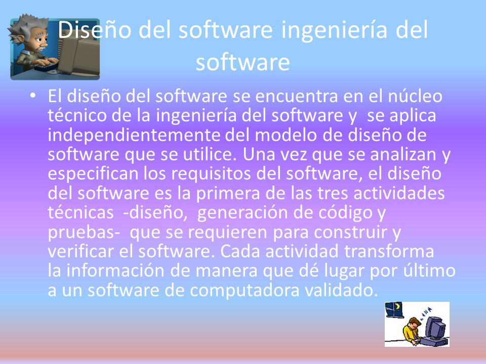 Diseño del software ingeniería del software