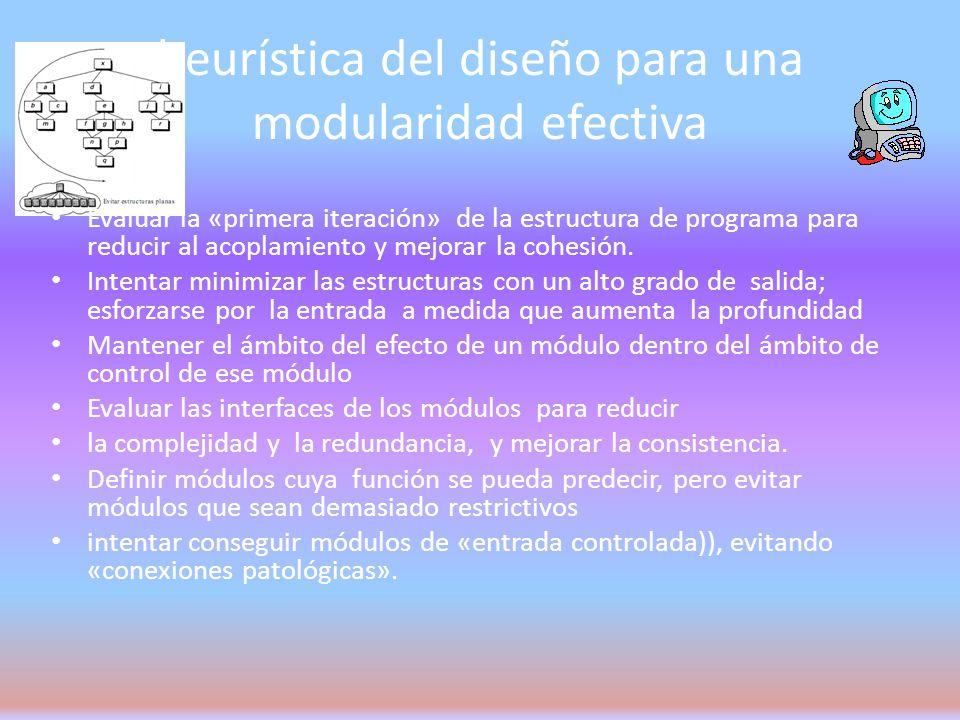 heurística del diseño para una modularidad efectiva