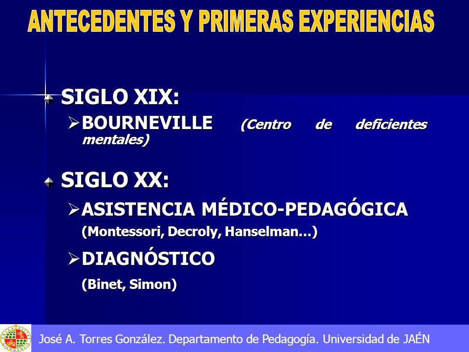 ANTECEDENTES Y PRIMERAS EXPERIENCIAS