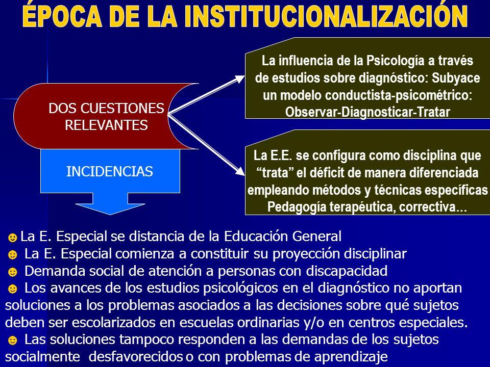ÉPOCA DE LA INSTITUCIONALIZACIÓN
