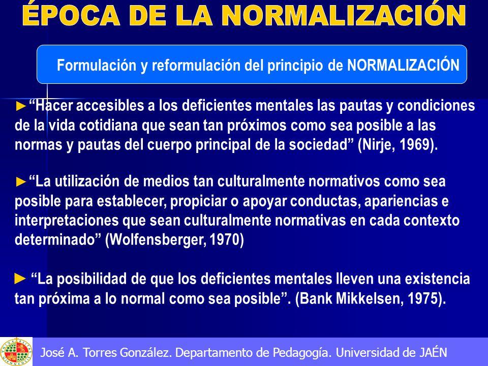 ÉPOCA DE LA NORMALIZACIÓN