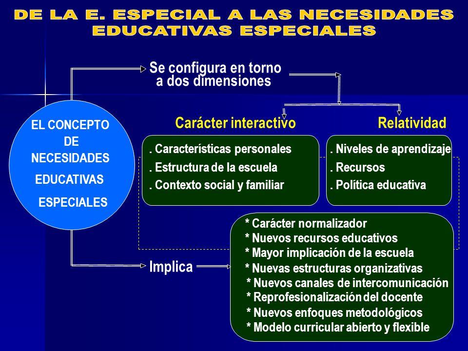 DE LA E. ESPECIAL A LAS NECESIDADES EDUCATIVAS ESPECIALES