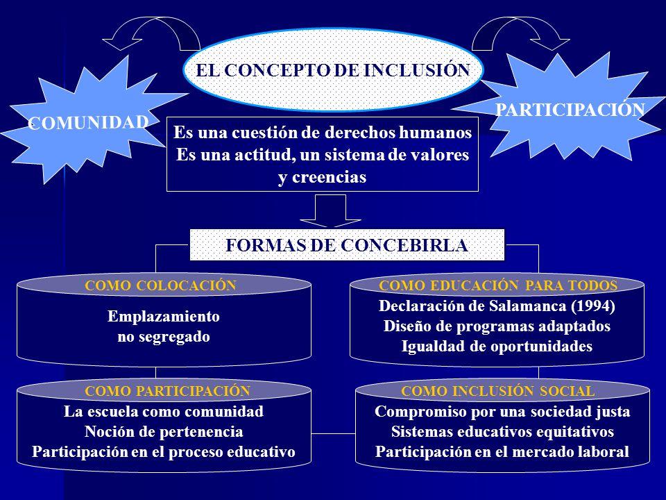 EL CONCEPTO DE INCLUSIÓN