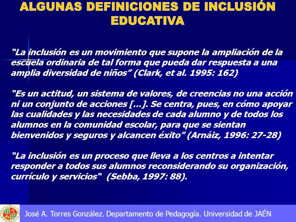 ALGUNAS DEFINICIONES DE INCLUSIÓN