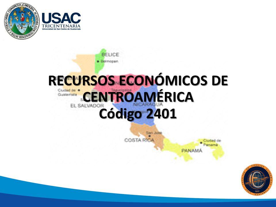 RECURSOS ECONÓMICOS DE CENTROAMÉRICA Código 2401