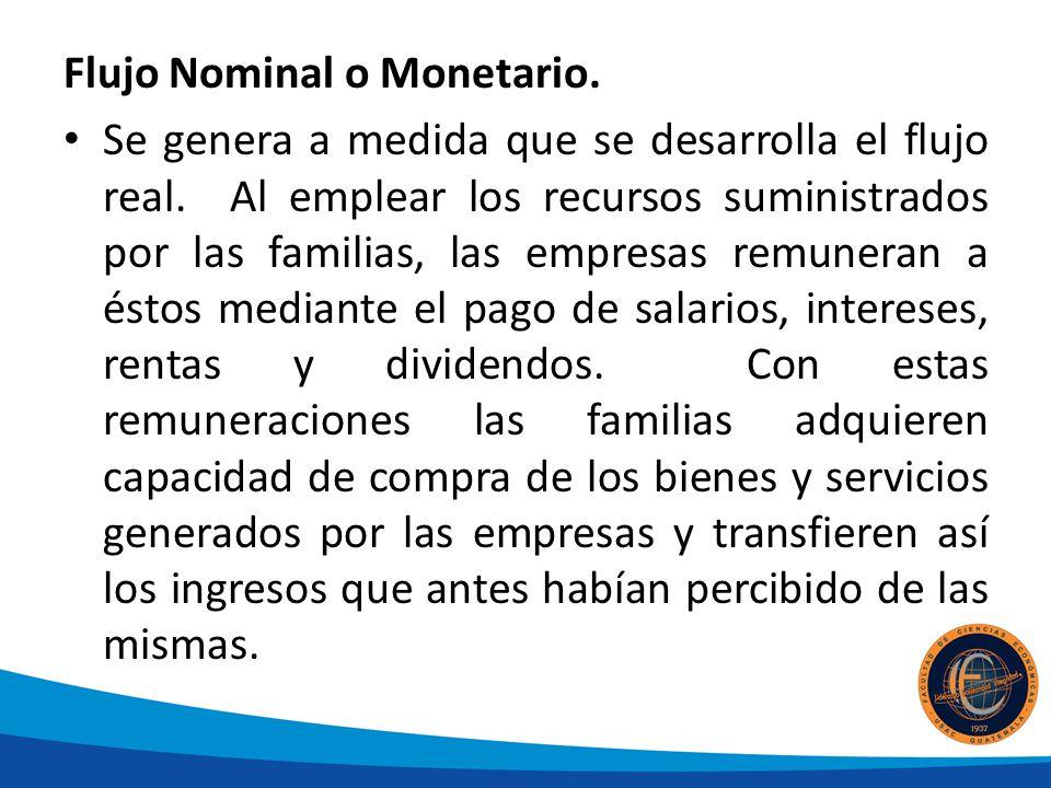Flujo Nominal o Monetario.