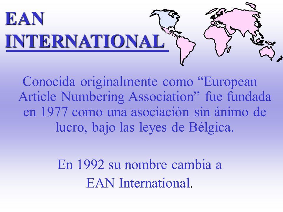 Conocida originalmente como European Article Numbering Association fue fundada en 1977 como una asociación sin ánimo de lucro, bajo las leyes de Bélgica.