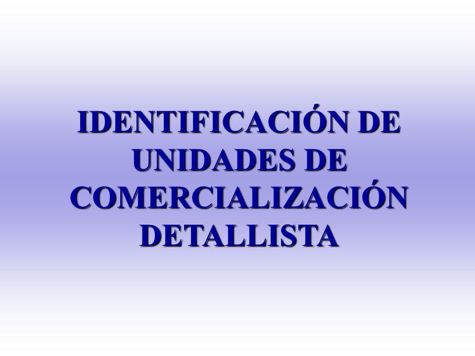 IDENTIFICACIÓN DE UNIDADES DE COMERCIALIZACIÓN DETALLISTA
