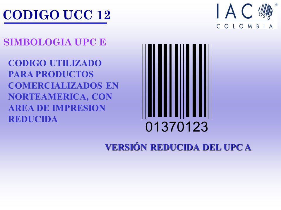 01370123 CODIGO UCC 12 SIMBOLOGIA UPC E