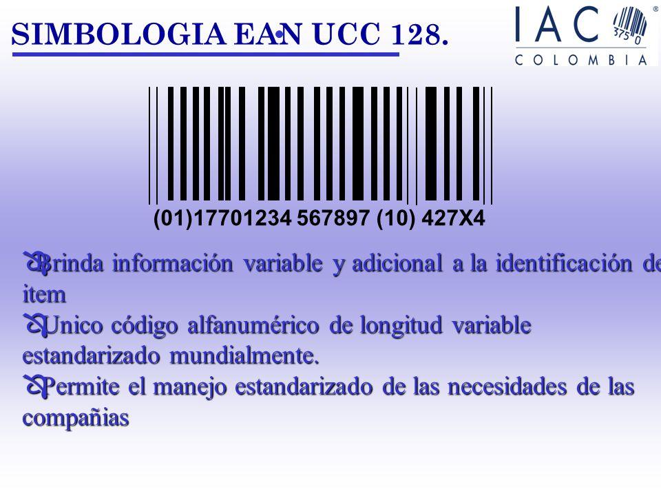 Brinda información variable y adicional a la identificación del item