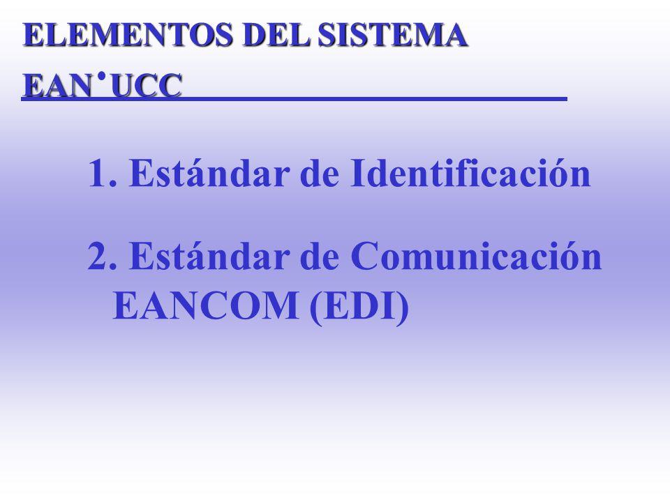 1. Estándar de Identificación 2. Estándar de Comunicación EANCOM (EDI)