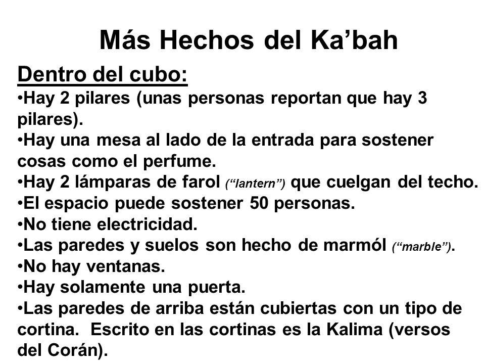 Más Hechos del Ka'bah Dentro del cubo: