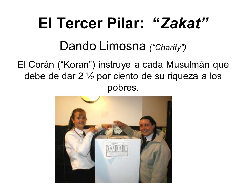 El Tercer Pilar: Zakat