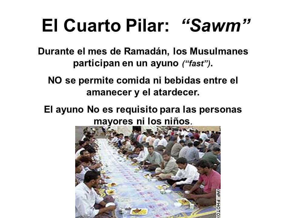 El Cuarto Pilar: Sawm
