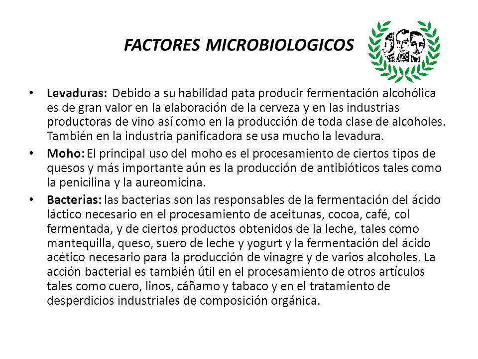 FACTORES MICROBIOLOGICOS