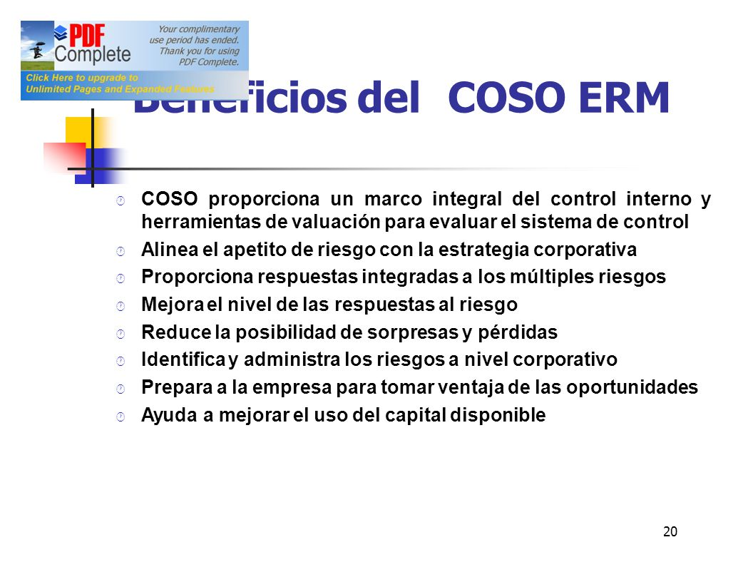 Beneficios del COSO ERM