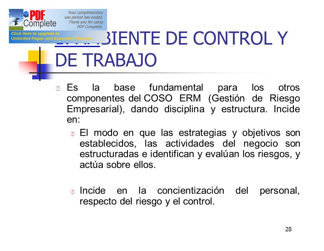 BIENTE DE CONTROL Y DE TRABAJO