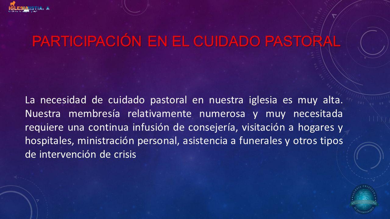 PARTICIPACIÓN EN EL CUIDADO PASTORAL