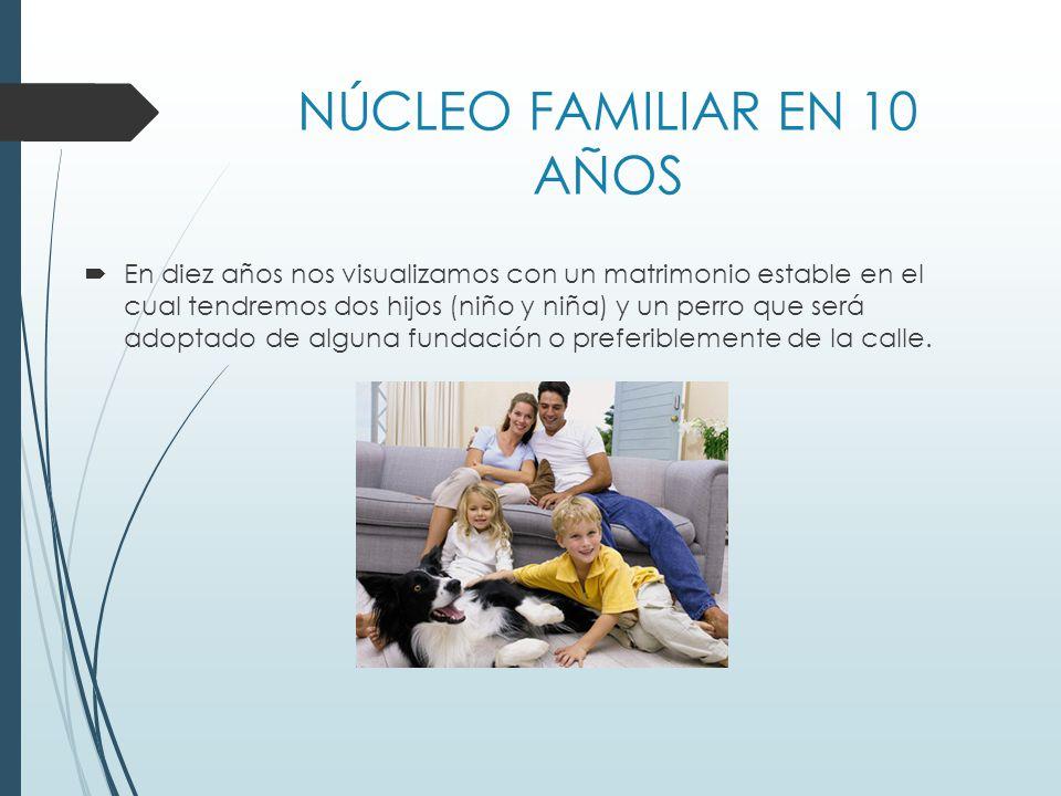 NÚCLEO FAMILIAR EN 10 AÑOS