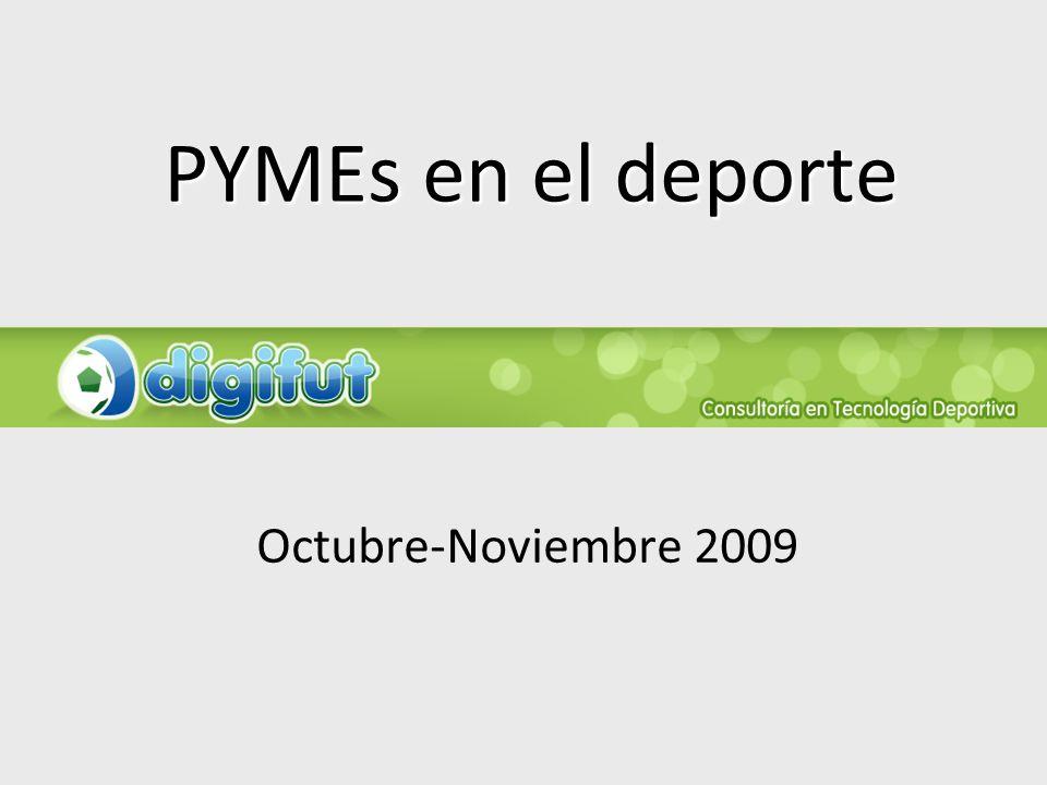 PYMEs en el deporte Octubre-Noviembre 2009