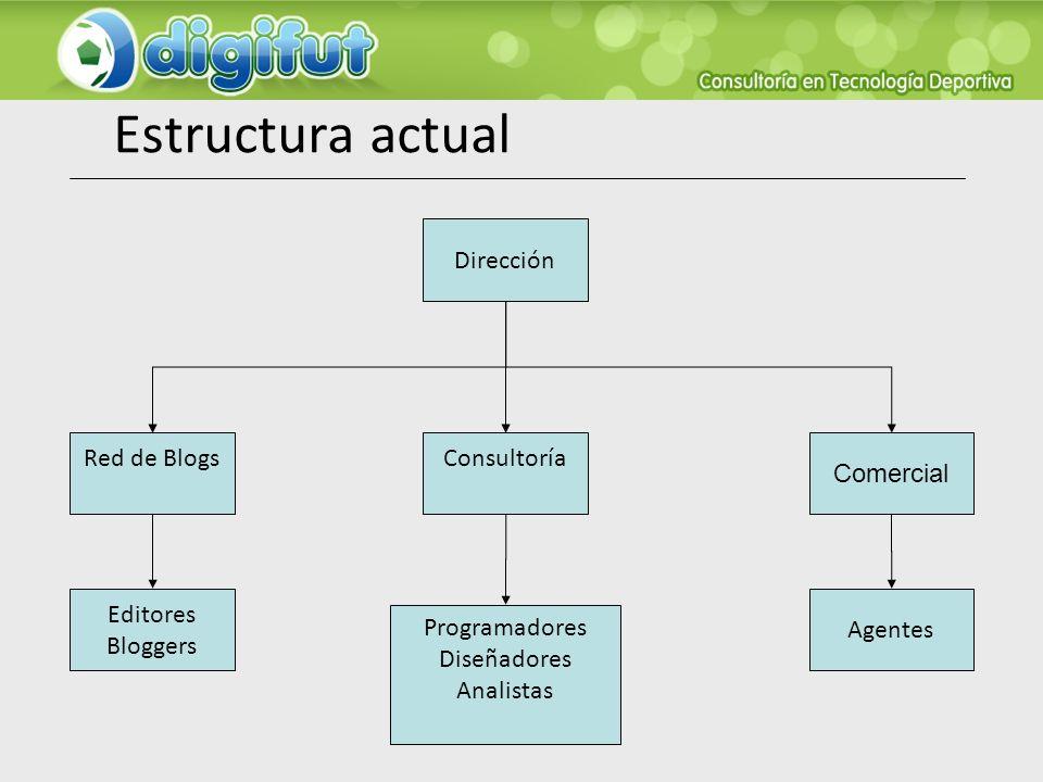 Estructura actual Dirección Red de Blogs Consultoría Comercial