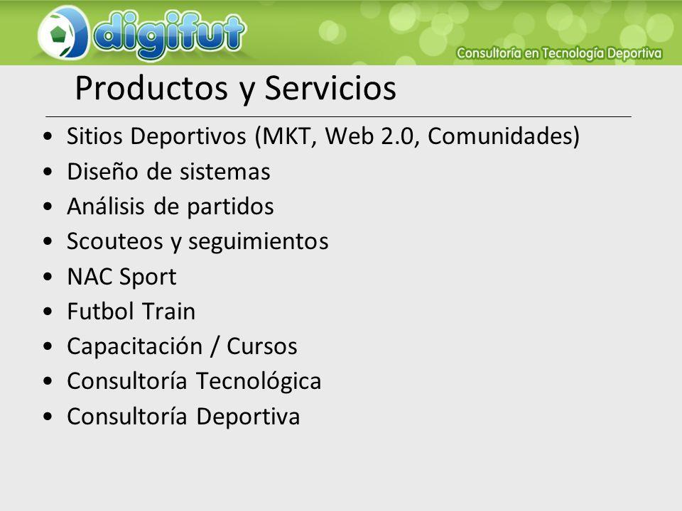 Productos y Servicios Sitios Deportivos (MKT, Web 2.0, Comunidades)