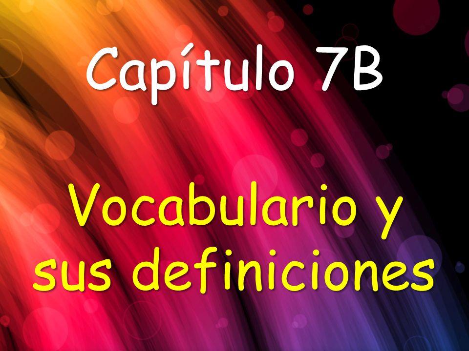Vocabulario y sus definiciones
