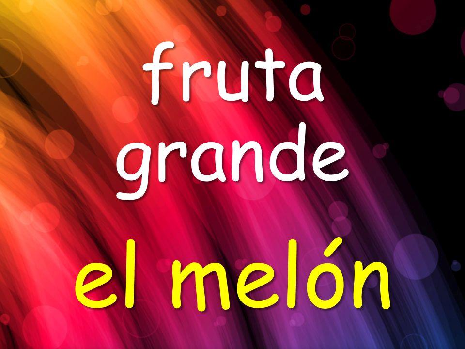 fruta grande el melón