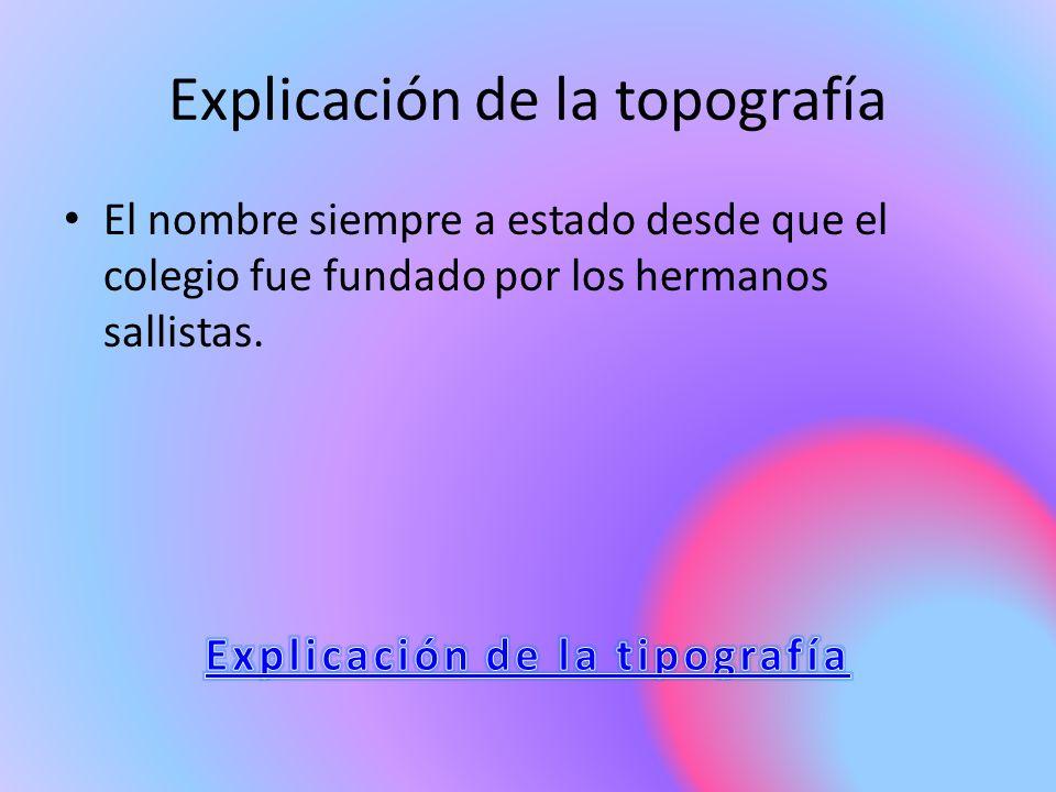 Explicación de la topografía