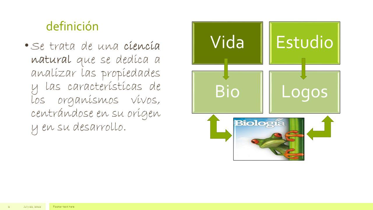 Vida Estudio Bio Logos definición