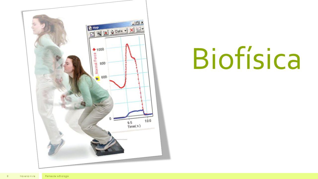 Biofísica Noveno nivle Ramas de la Biología