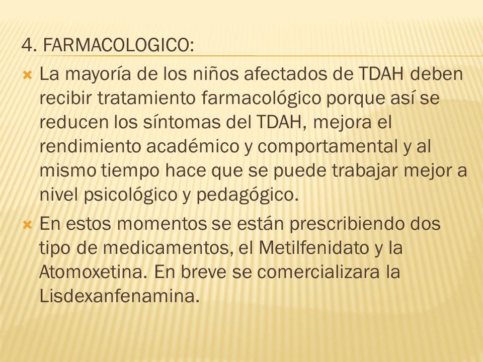 4. FARMACOLOGICO:
