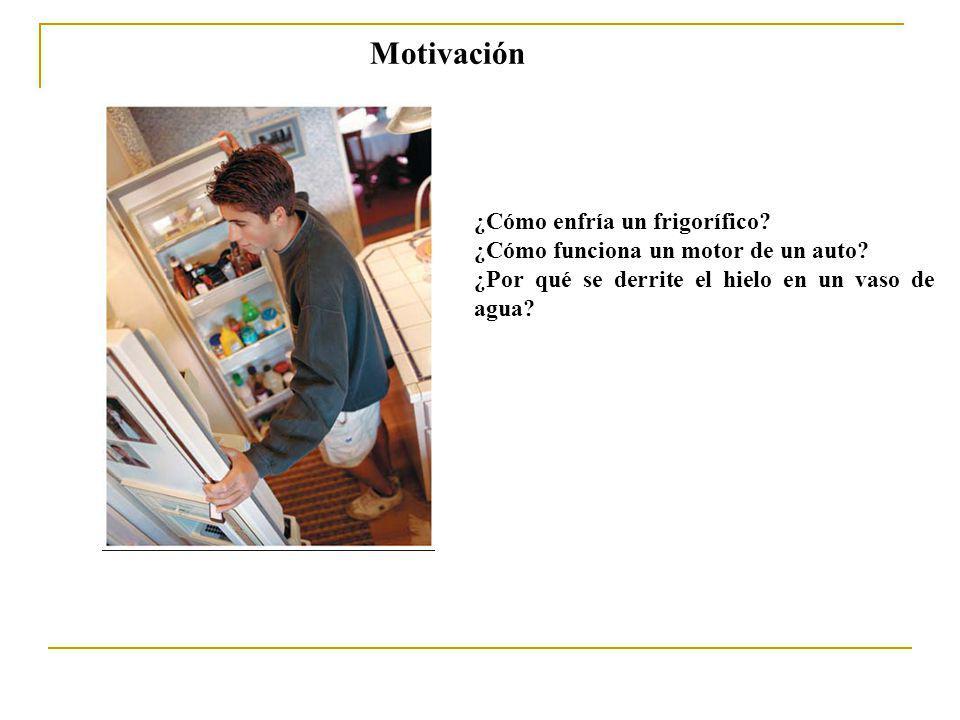 Motivación ¿Cómo enfría un frigorífico