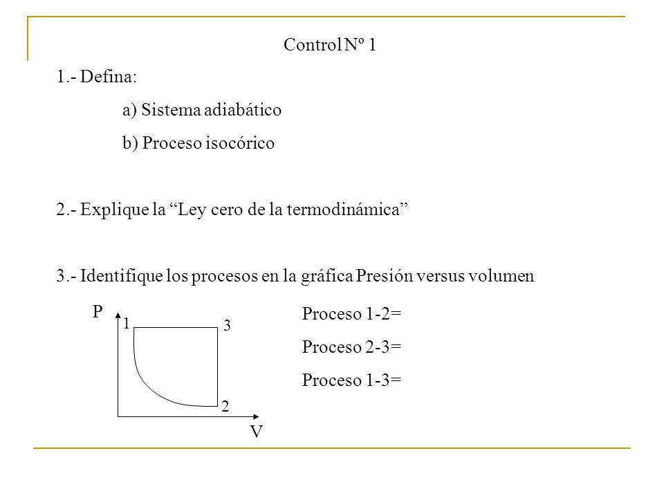 2.- Explique la Ley cero de la termodinámica