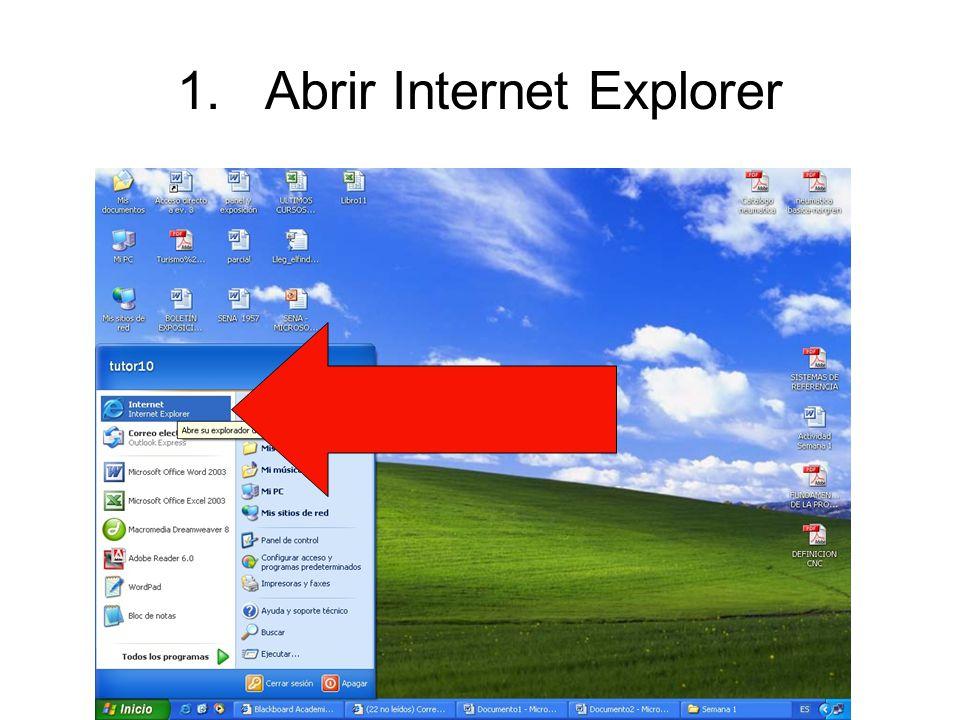Abrir Internet Explorer