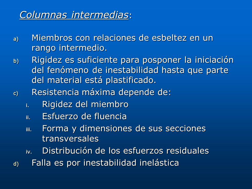 Columnas intermedias: