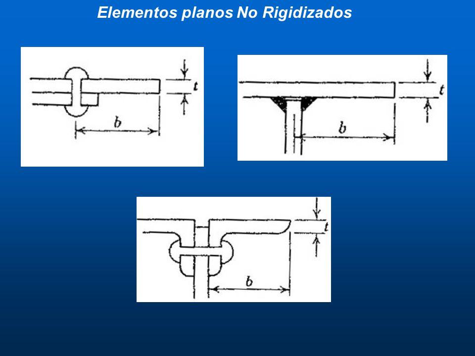Elementos planos No Rigidizados
