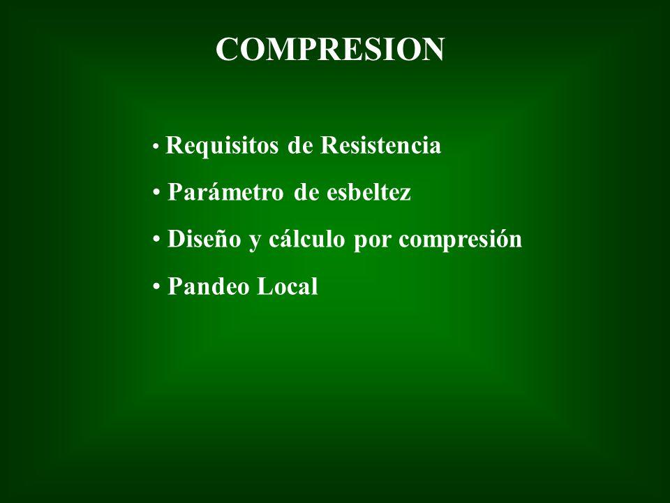 COMPRESION Parámetro de esbeltez Diseño y cálculo por compresión