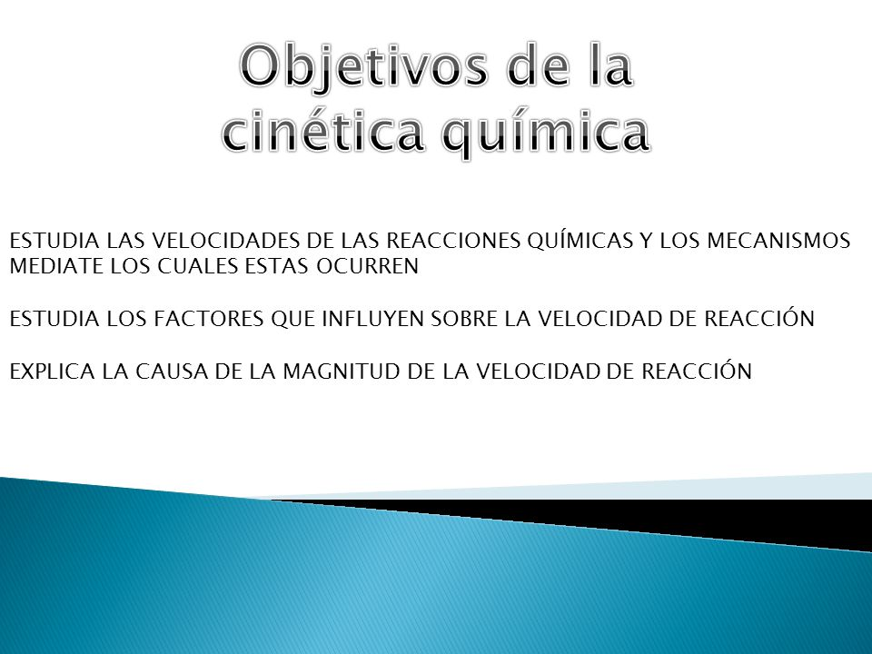 Objetivos de la cinética química