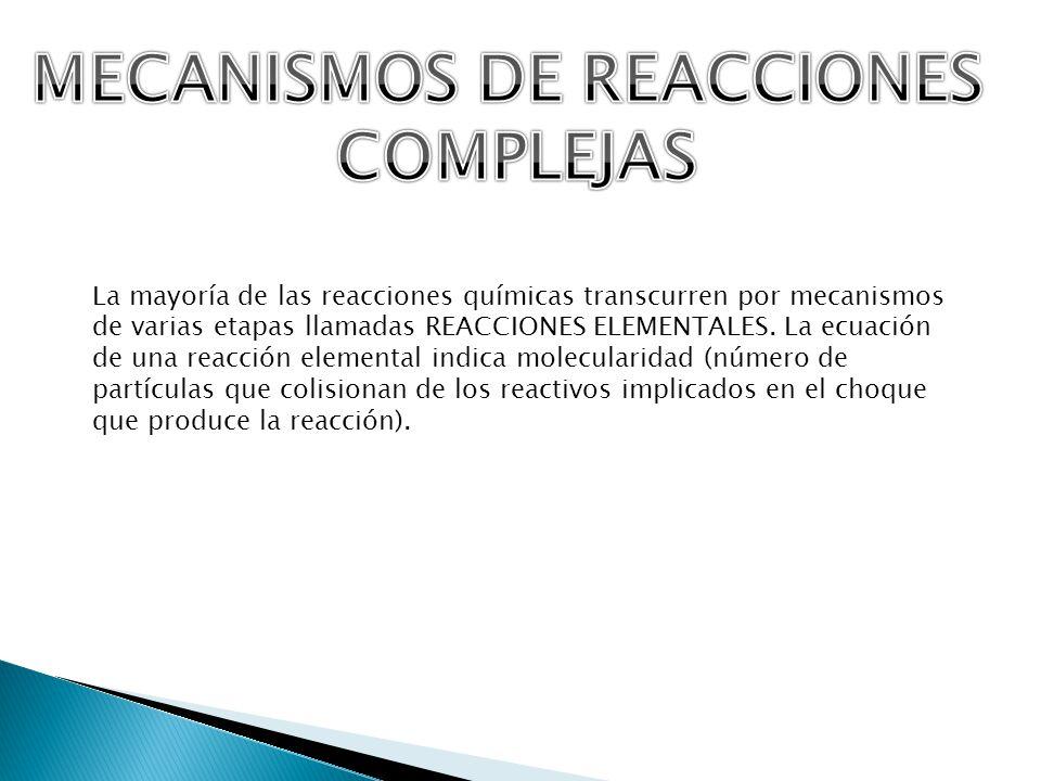MECANISMOS DE REACCIONES