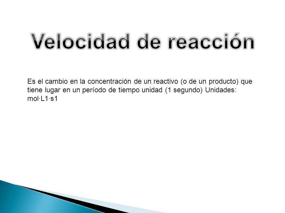 Velocidad de reacción