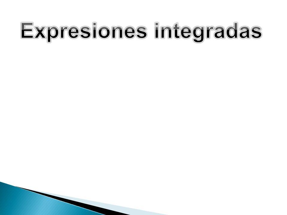 Expresiones integradas