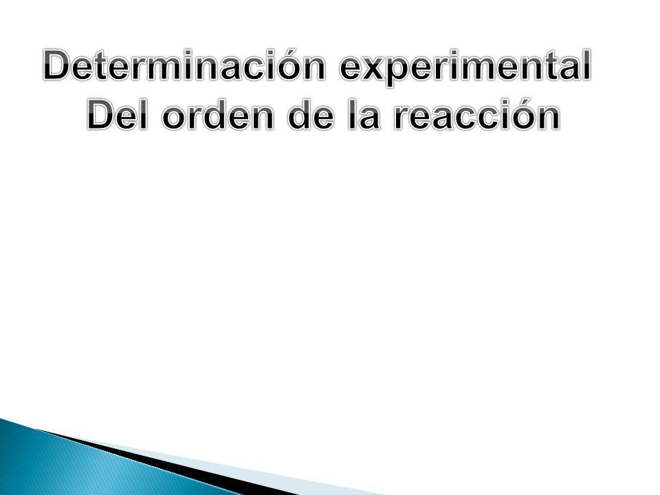 Determinación experimental Del orden de la reacción