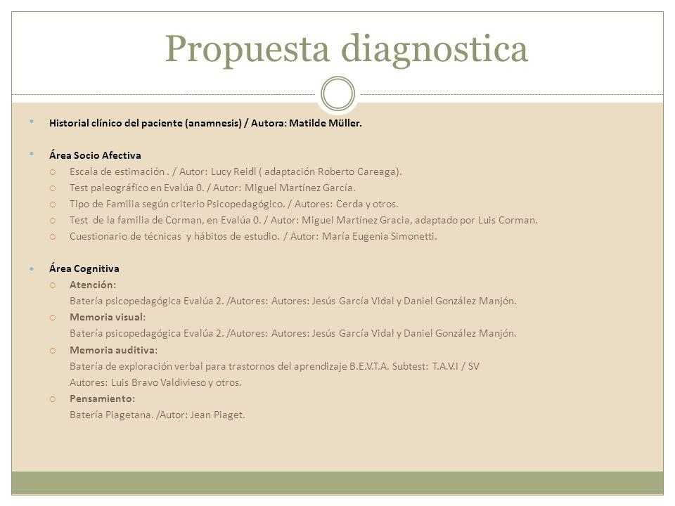 Propuesta diagnostica