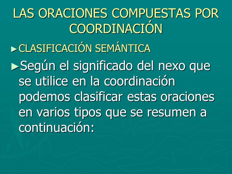 LAS ORACIONES COMPUESTAS POR COORDINACIÓN