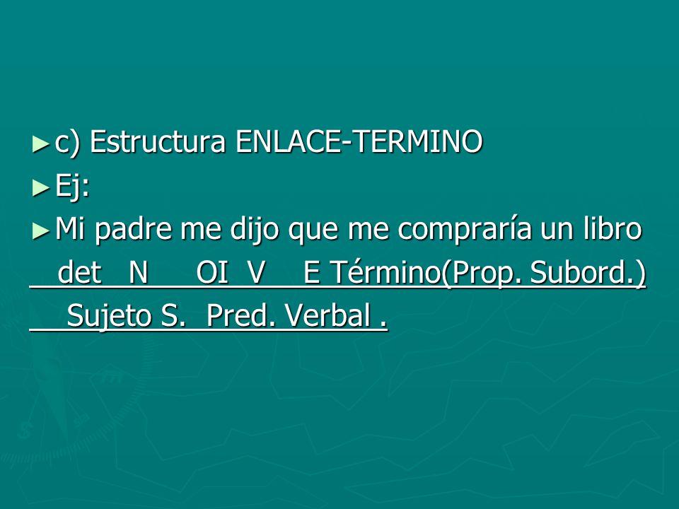c) Estructura ENLACE-TERMINO