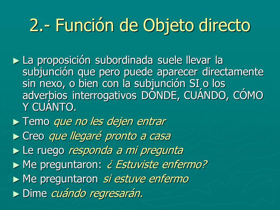 2.- Función de Objeto directo